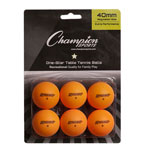 1STAR TABLE TENNIS 6/PK ORANGE