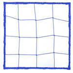 2.5 MM OFFICIAL SIZE SOCCER NET BLUE