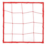 2.5 MM OFFICIAL SIZE SOCCER NET RED