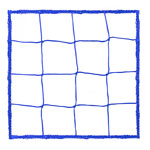 4.0 MM OFFICIAL SIZE SOCCER NET BLUE