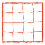 4.0 MM OFFICIAL SIZE SOCCER NET RED