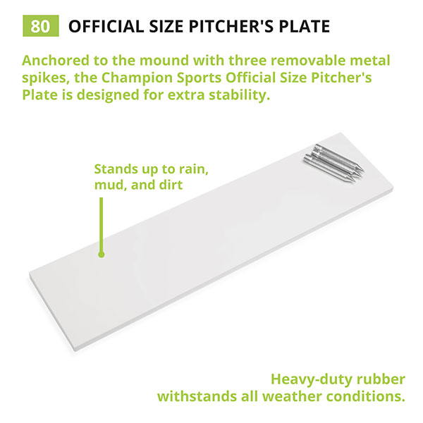 Official Size Pitcher S Plate