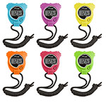 STOP WATCH SET OF 6 NEON COLORS