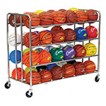 48 BALL DOUBLE WIDE BALL CART