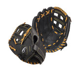 11 INCH LEATHER & NYLON BASEBALL/SOFTBALL GLOVE RIGHT HANDED