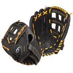 13 INCH LEATHER & NYLON BASEBALL/SOFTBALL GLOVE RIGHT HANDED