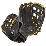 14 INCH LEATHER & NYLON BASEBALL/SOFTBALL GLOVE RIGHT HANDED