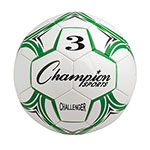 CHALLENGER SOCCER BALL SIZE 3 GREEN/WHITE