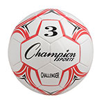 CHALLENGER SOCCER BALL SIZE 3 RED/WHITE
