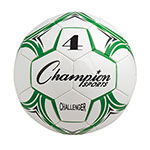 CHALLENGER SOCCER BALL SIZE 4 GREEN/WHITE