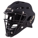 ADULT HOCKEY STYLE CATCHER'S HELMET MATTE BLACK
