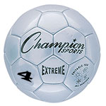 EXTREME SOCCER BALL SIZE 4 SILVER