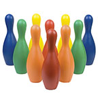 COLORED FOAM BOWLING PIN SET