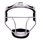 SOFTBALL FACE MASK ADULT SILVER