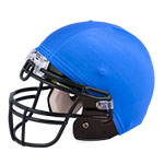 FOOTBALL HELMET COVER BLUE
