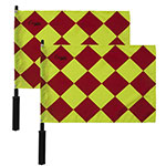 DIAMOND PATTERNED LINESMAN'S FLAG