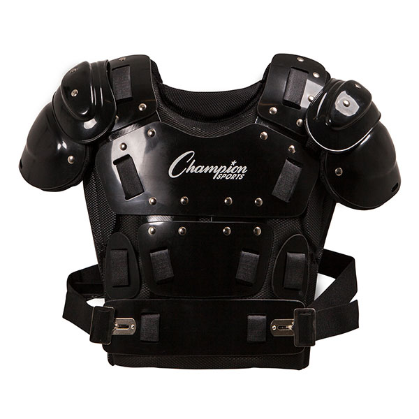 17 INCH OUTSIDE PLASTIC SHIELD PROFESSIONAL MODEL UMPIRE CHEST PROTECTOR