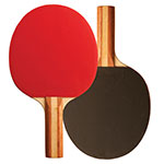 7 PLY PIPS IN RUBBER FACE TABLE TENNIS PADDLE