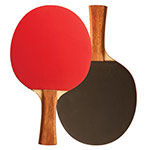7 PLY PIPS IN RUBBER FACE TABBLE TENNIS PADDLE