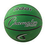 OFFICIAL SIZE RUBBER BASKETBALL GREEN
