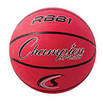 OFFICIAL SIZE RUBBER BASKETBALL RED