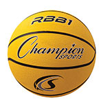 OFFICIAL SIZE RUBBER BASKETBALL YELLOW