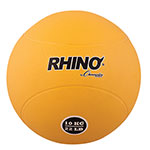 10 KILO RUBBER MEDICINE BALL YELLOW