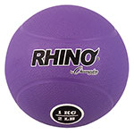 1 KILO RUBBER MEDICINE BALL PURPLE