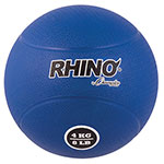 4 KILO RUBBER MEDICINE BALL BLUE