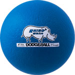 6 INCH RHINO SKIN LOW BOUNCE DODGEBALL NEON BLUE