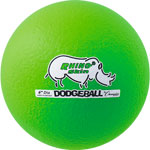 6 INCH RHINO SKIN LOW BOUNCE DODGEBALL NEON GREEN