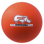 6 INCH RHINO SKIN LOW BOUNCE DODGEBALL NEON ORANGE