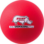 6 INCH RHINO SKIN LOW BOUNCE DODGEBALL NEON RED