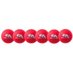 6 INCH RHINO SKIN LOW BOUNCE DODGEBALL SET NEON RED