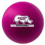 6 INCH RHINO SKIN LOW BOUNCE DODGEBALL NEON VIOLET