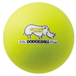 6 INCH RHINO SKIN LOW BOUNCE DODGEBALL NEON YELLOW