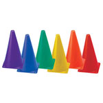 9 INCH HIGH VISIBILITY PLASTIC CONE SET